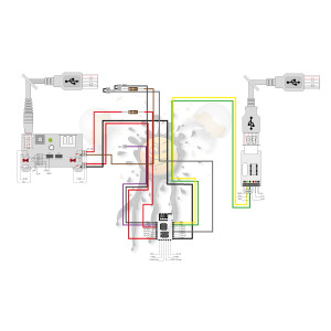 ESP-12F Anschlussbelegung ohne I/O Adapter