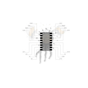 USB340 TTL Konverter Pinout