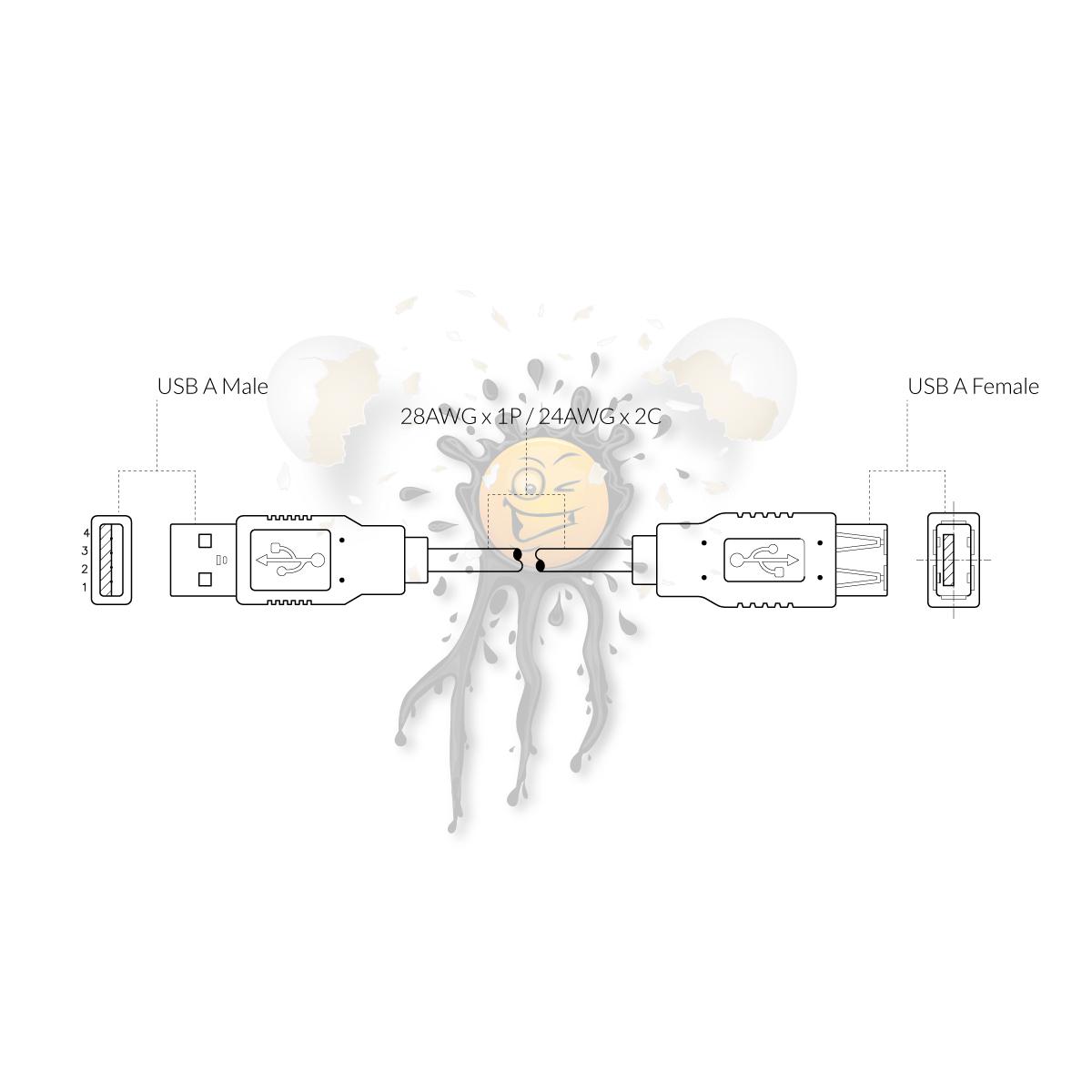 grafische Darstellung USB Verlängerung