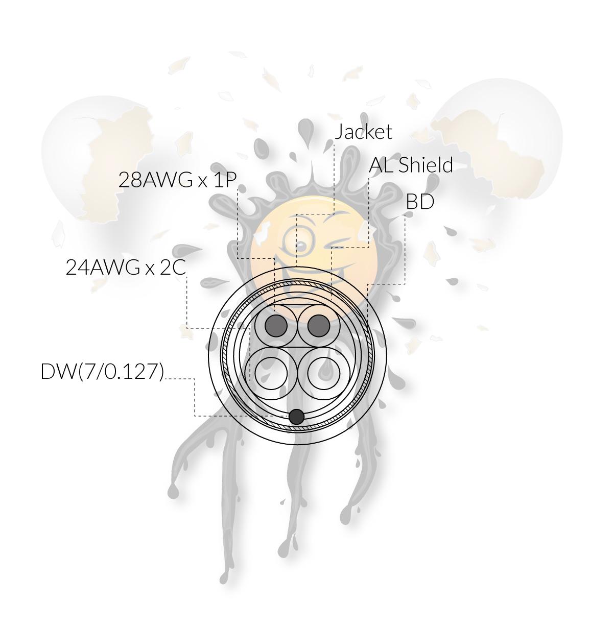 USB Verlängerung Querschnitt