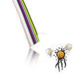 Flachbandkabel AWG27 16-polig detail