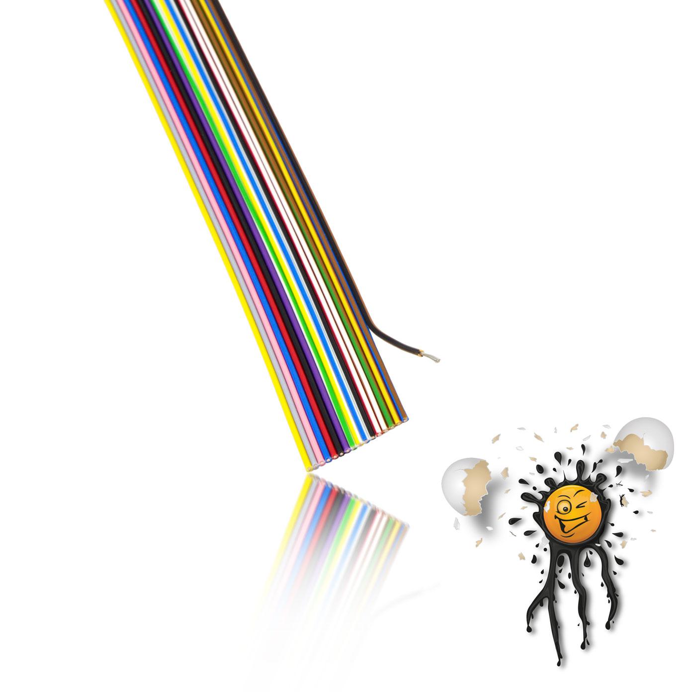 Detail Flachbandkabel AWG27 17-polig