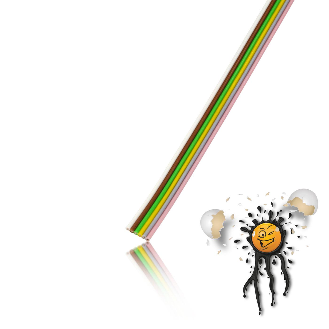 Flachbandkabel AWG23 6-polig