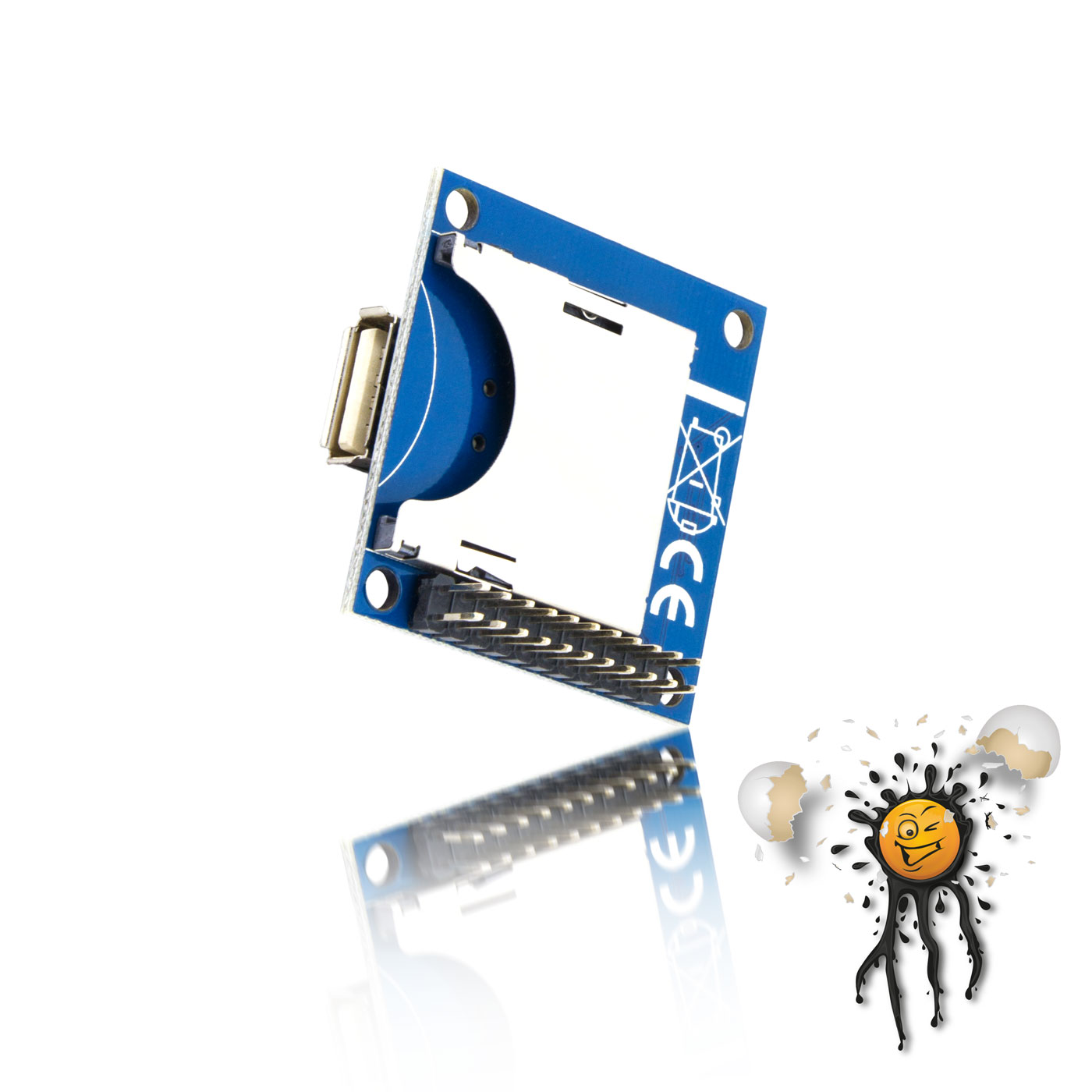 MP3 WAV Soundmodul Anschlüsse und Kartenleser