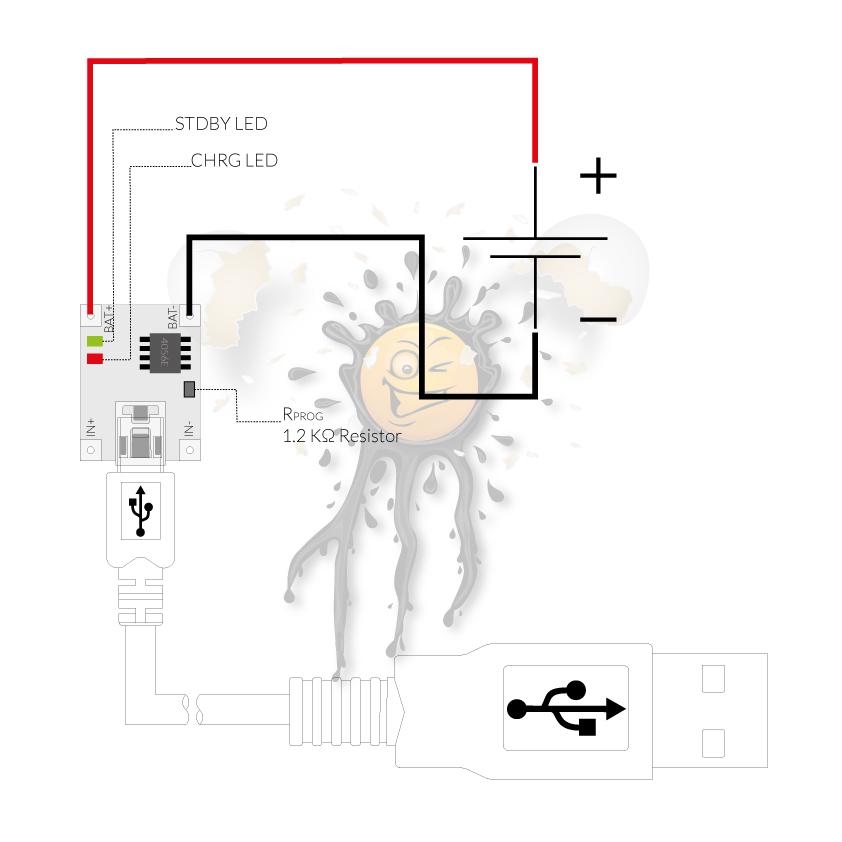USB-Laderegler-TP4056-Pinbelegung