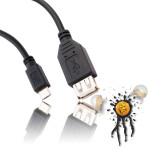 USB A Buchse auf USB B Micro Stecker 200 mm