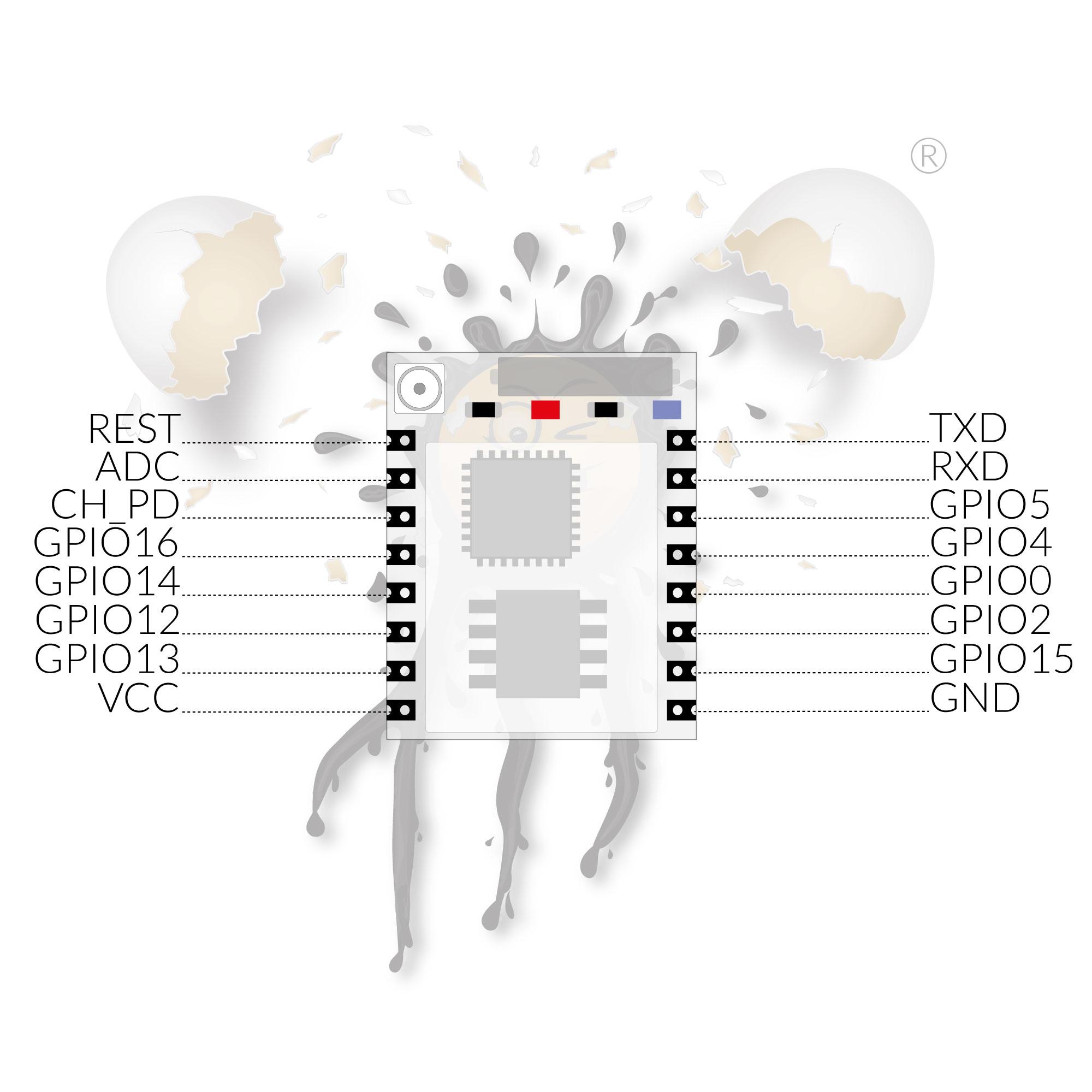 ESP8266 ESP-07 Pinout