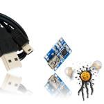 USB Li Ion AA Akku Laderegler Set
