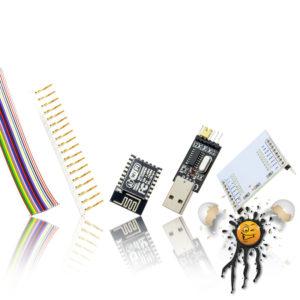 ESP-12E Set inkl. Kabel, ESP-12E, I/O Adapter, USB TTL serial, crimp socket