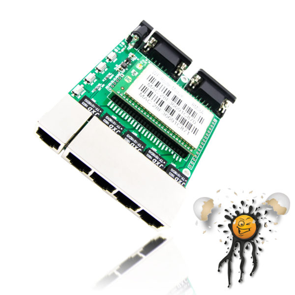 IoT openwrt 5 ethernet port routerboard