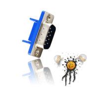RS232 UART seriell DB9 Crimp Stecker