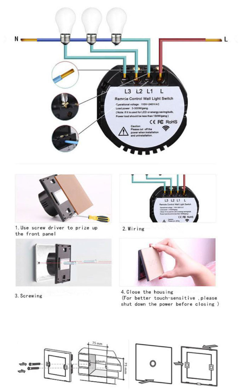 433 MHz. IoT Funk Lichtschalter RF Switch 2 Kanal – IoT powered by ...