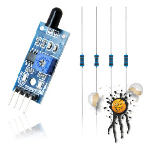 ESP8266 Flammensensor 4 Pin ADC 1V digital 3.3V