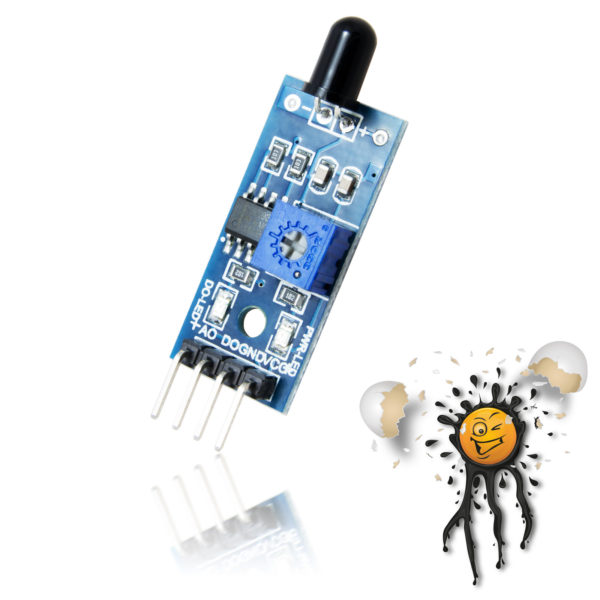 Arduino Flammensensor 4 Pin analog digital