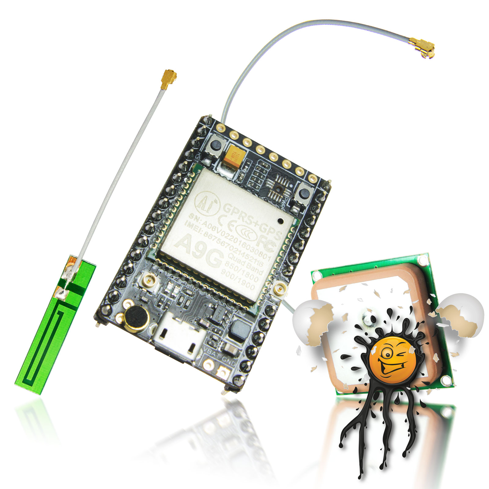 Ai Thinker Gps Bds Gprs A9g Board Iot Powered By Circuit Original Set Incl Dev And Antennas