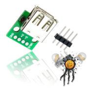 USB Buchse to Dip Adapter mit Pinleiste