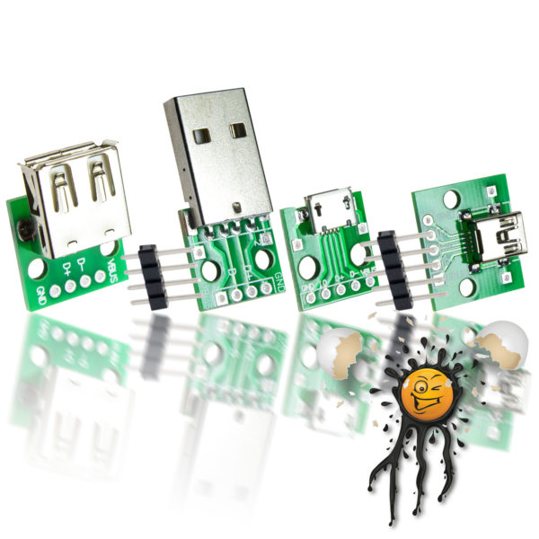 Micro Mini Standard USB to Dip Adapter