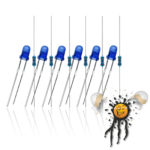 3 mm LED Sortiment Farbe blau (farbig) mit Widerstand