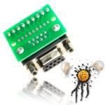 DB9 RS232 serial screw adapter