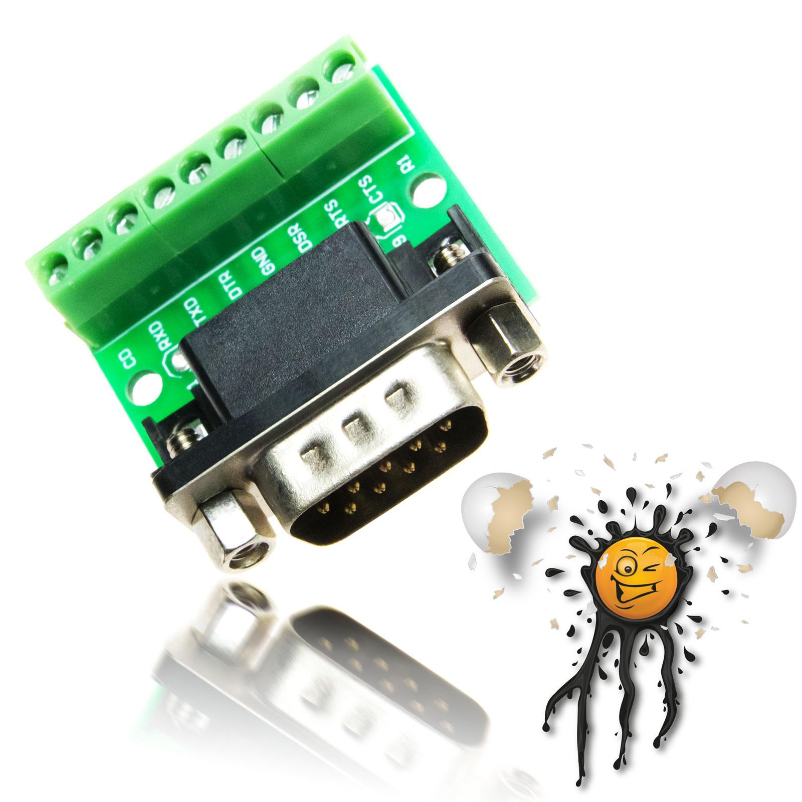 DB9 RS232 serial female Adapter