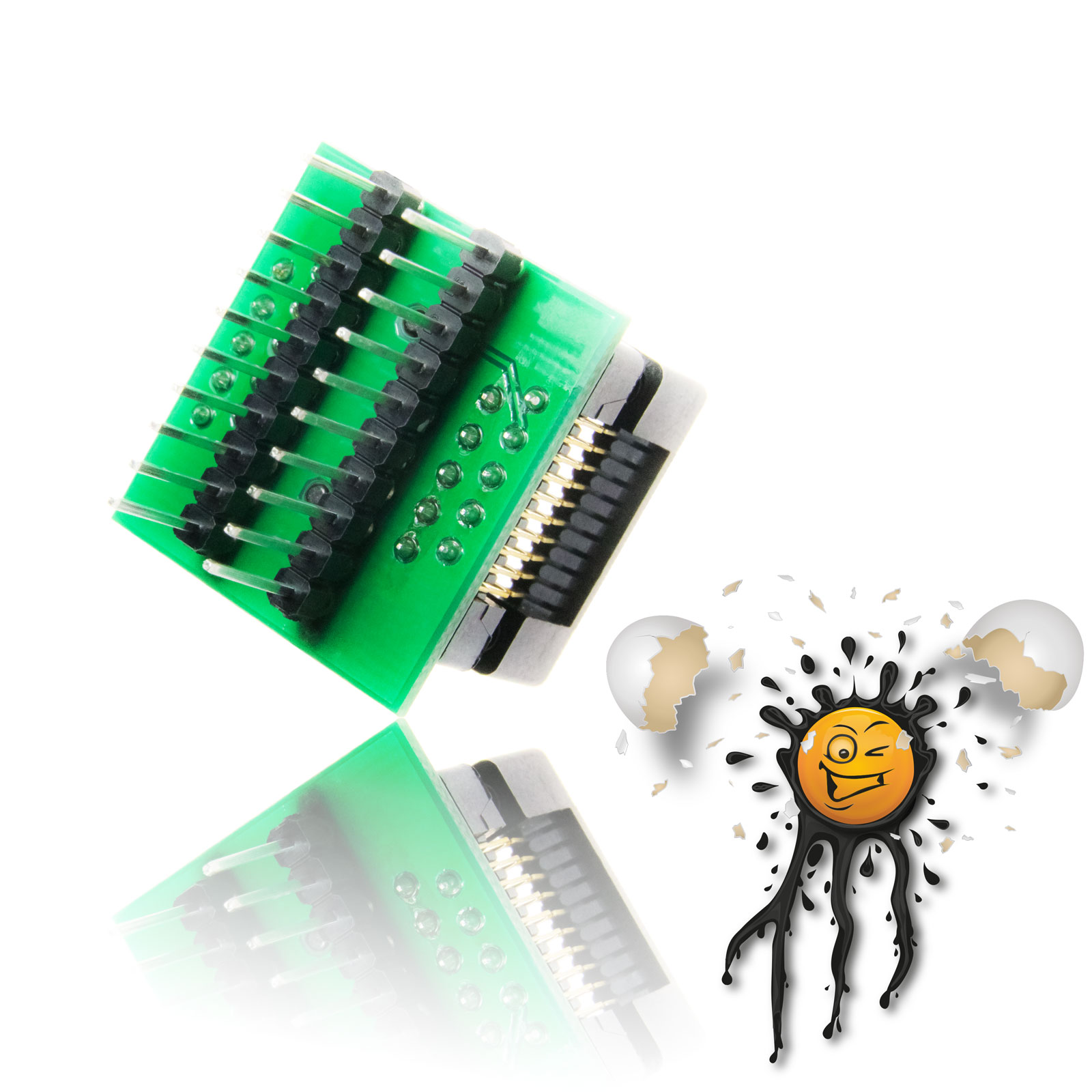 20 Pin 2.54 mm Socket Converter Module