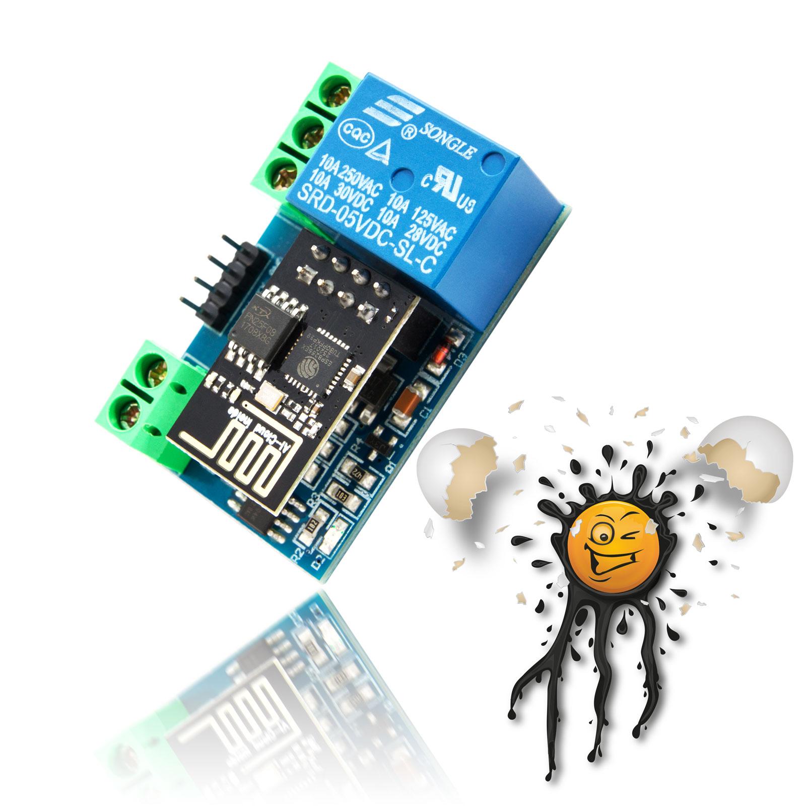 LC Technology ESP8266 ESP-01 Relais Modul