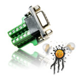 DB9 RS232 serial female mini Adapter