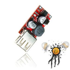 6V 9V 12V 24V to 5 Volt USB Spannungskonverter