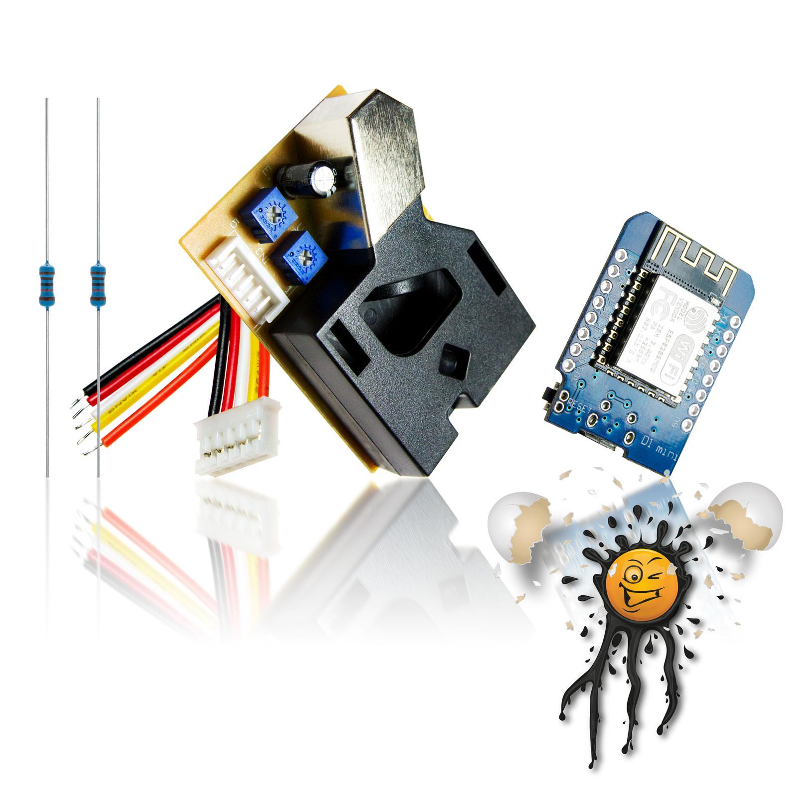 WiFi Feinstaub Sensor Set DSM501 WeMos ESP8266