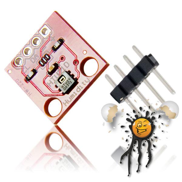Luftfeuchtigkeit- Temperatur- Sensor HTU21D mit Pinleiste
