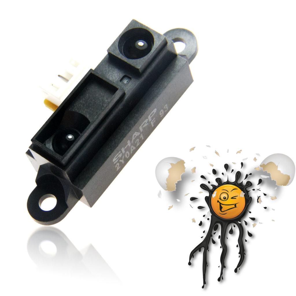 Sharp GP2Y0A21 IR 10-80 cm Distance Sensor Module