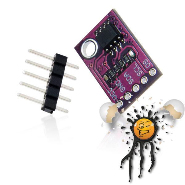 LM75A Temperature Sensor Module incl. Pin Header