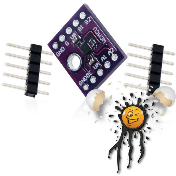 TXS0102 I2C Voltage Level Converter Module Board incl. Pinheader