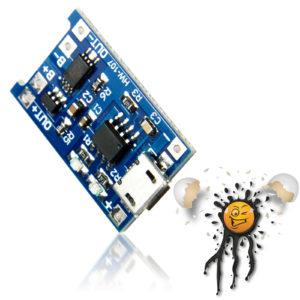 TP4056 USB Micro Li Ion Charger Protect Module