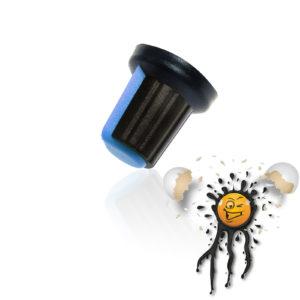 Potentiometer adjust knob blue