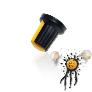 Potentiometer adjust knob yellow