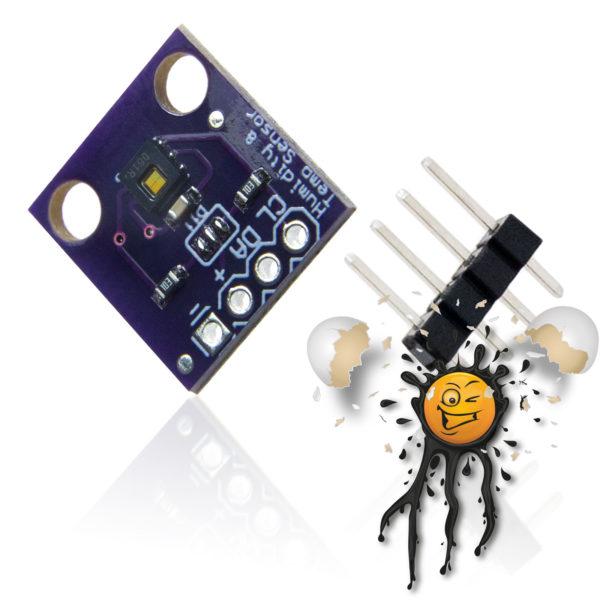 HDC1080 Temperature Humidity Sensor Module incl. Pin Header