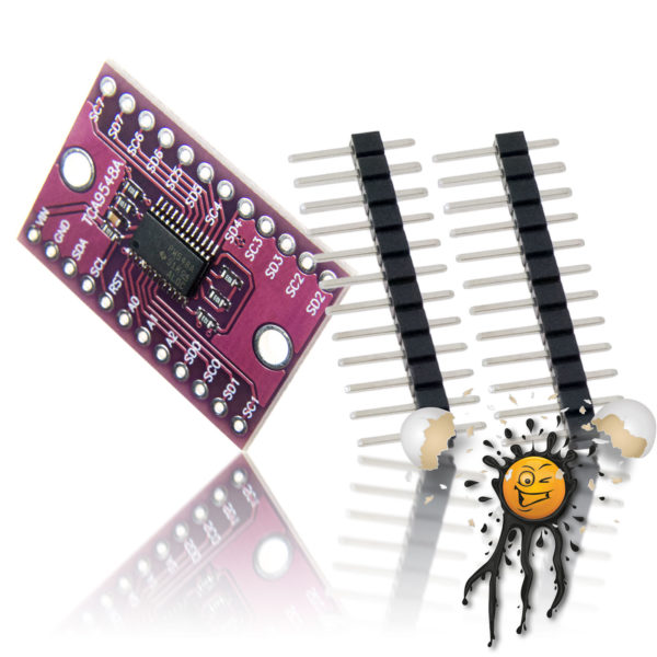 TCA9548A 8 channel I2C Expansion Boardincl. Pinheader
