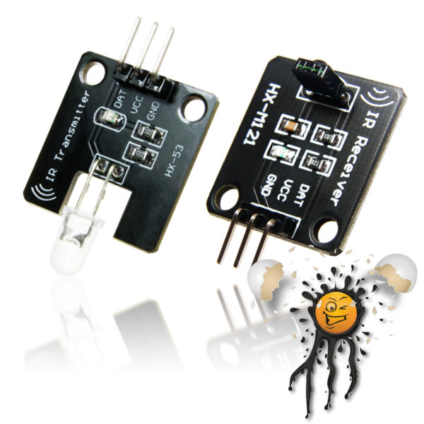 Infrared 38 KHz. Transmitter Receiver remote controller set