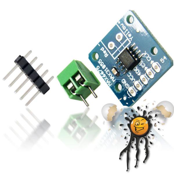 SPI K Type Sensor Converter MAX31855 incl. Screw Connector and Pinheader