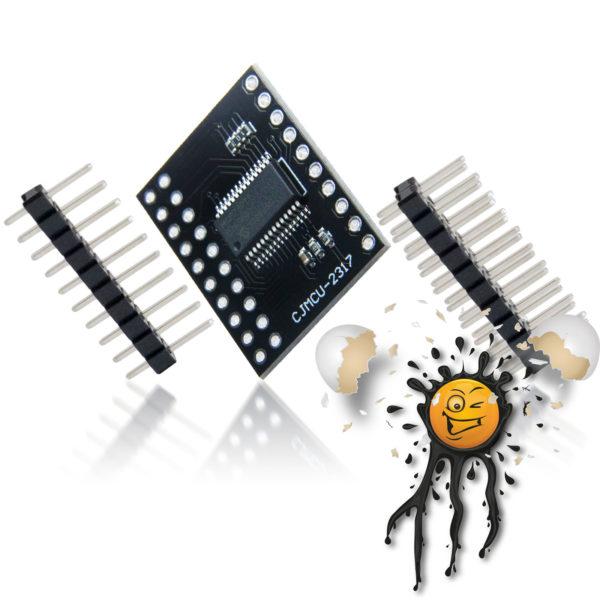 MCP23017 GPIO PWM MCU Expansion Board incl. Pinheader