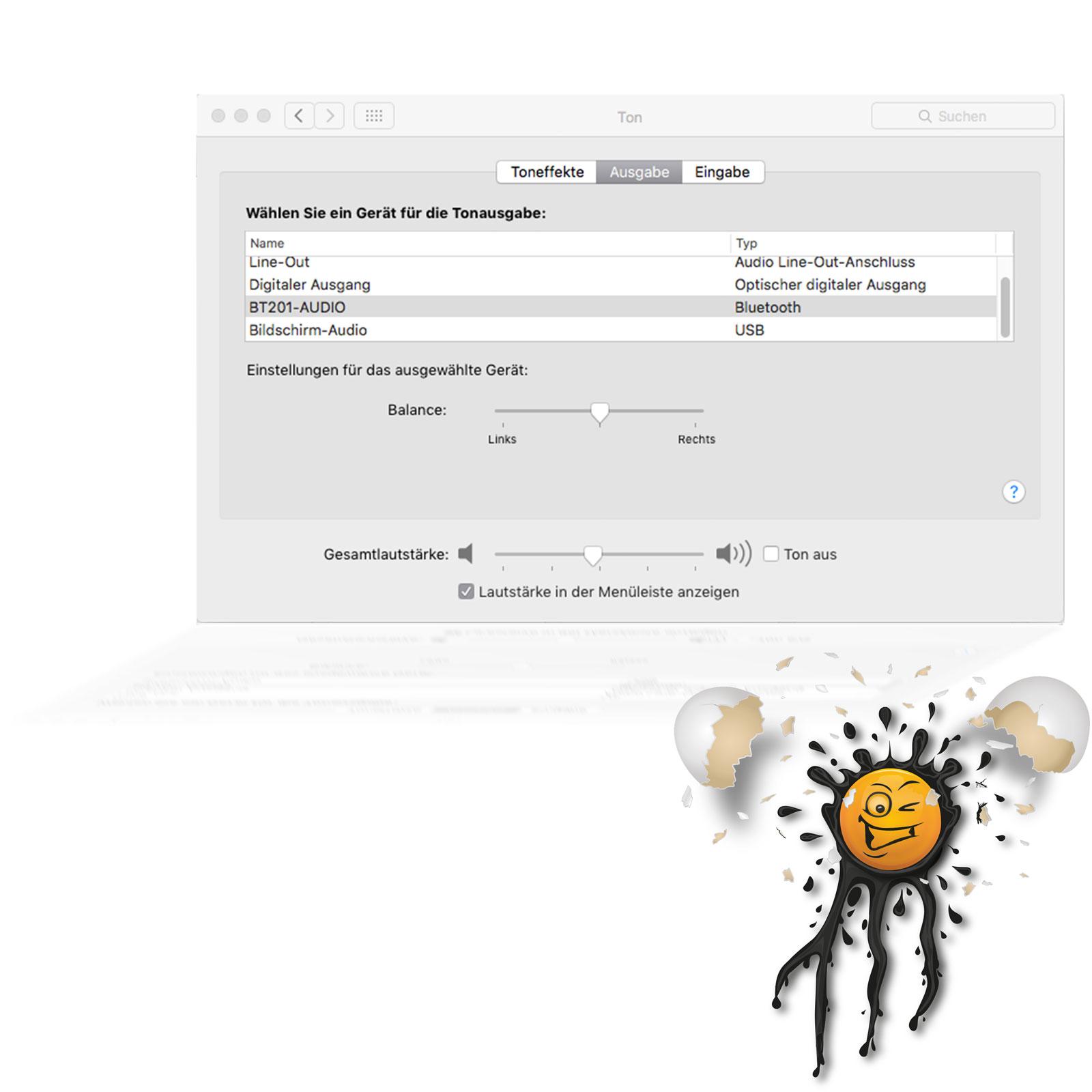 Bluetooth OS X Audio settings