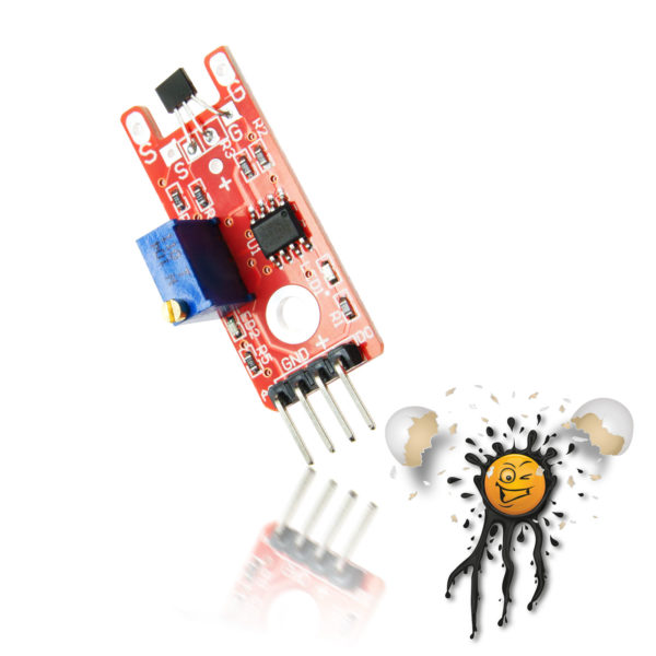 ESP8266 ESP32 Arduino KY-024 Magnetic Switch Hall Sensor