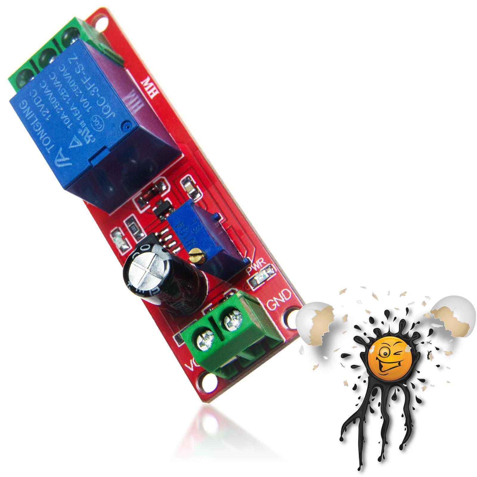 NE555 1 Channel Delay Relays Module screw connectors