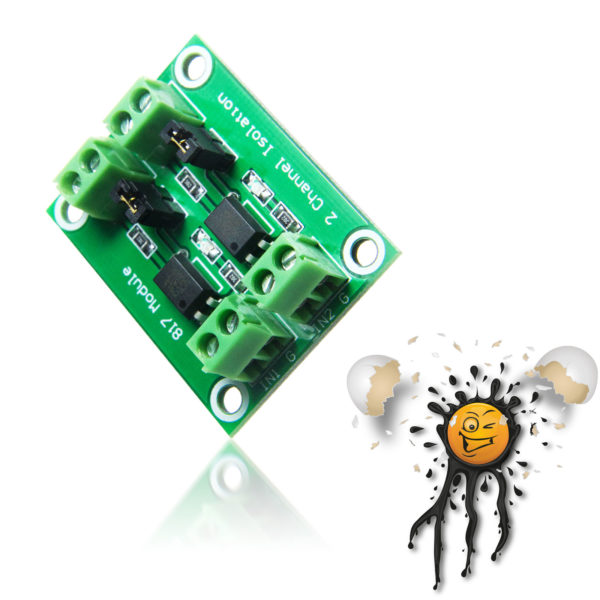 PC817 2 channel Photocoupler Module
