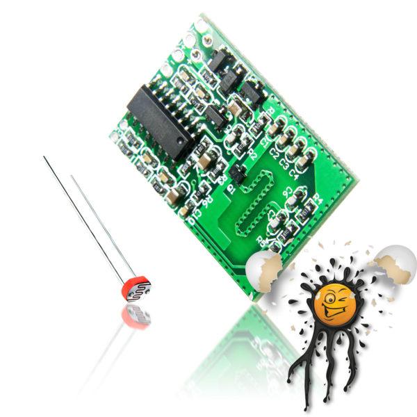 Motion Radar Sensor Switch incl. LDR Photoresistor
