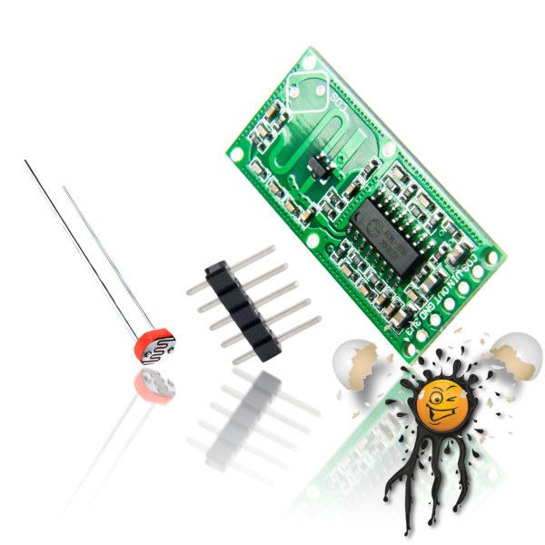 RCWL-0516 Radar microwave Sensor Set incl. LDR and Pinheader