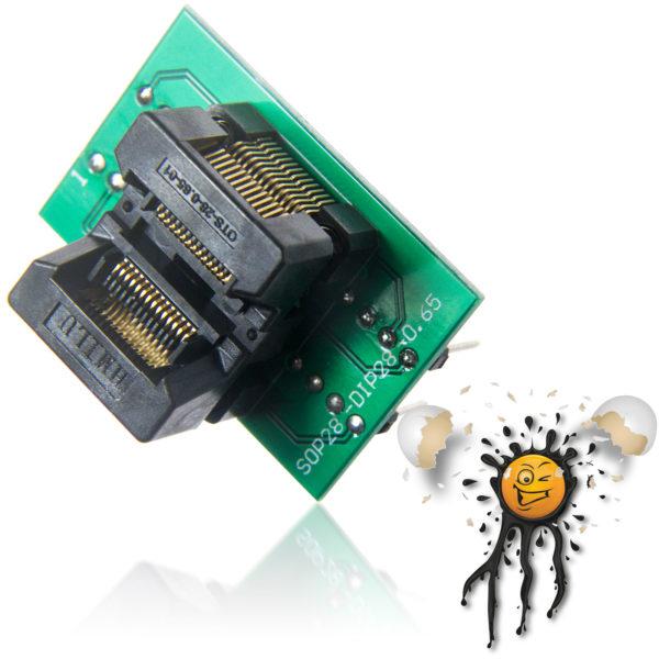 SOIC28 SOP28 to 28 Pin 0.65mm Socket Converter Module
