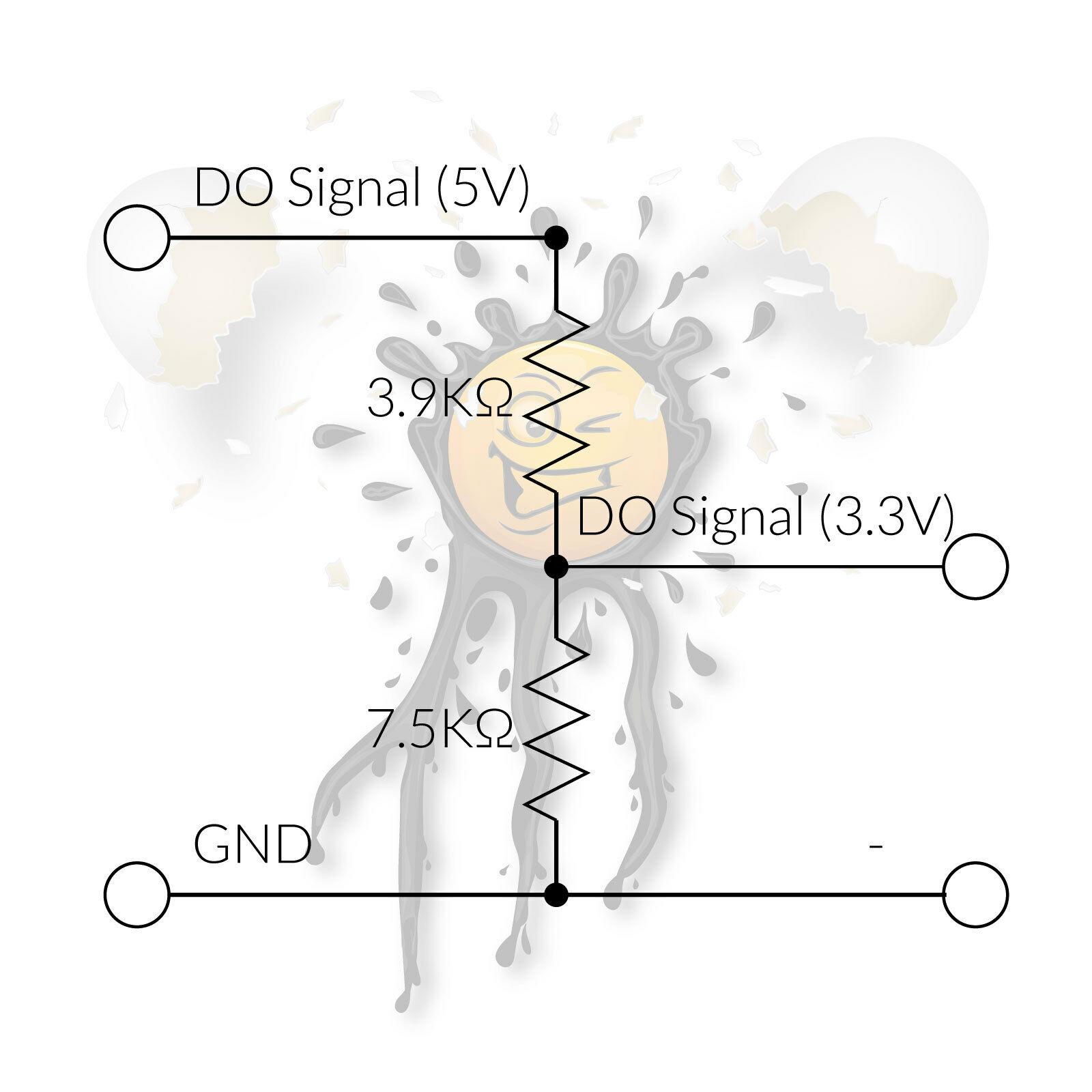 DO Digital Out Voltage Divider 5V to 3.3V