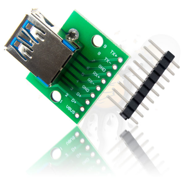 USB 3.0 to Dip Break Out Adapter incl. pinheader